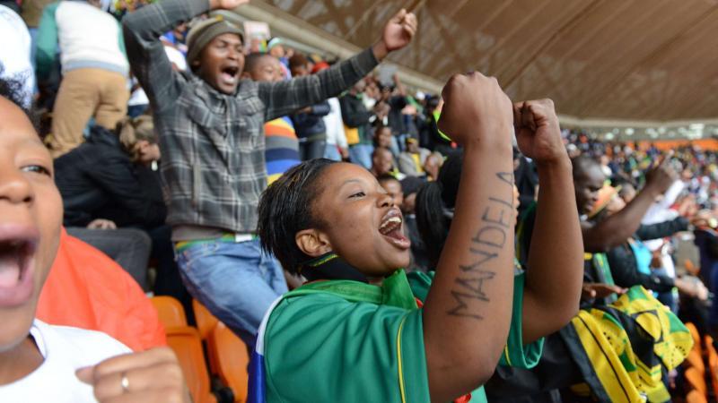 Mandela herinnerings bijeenkomst trok veel kijkers