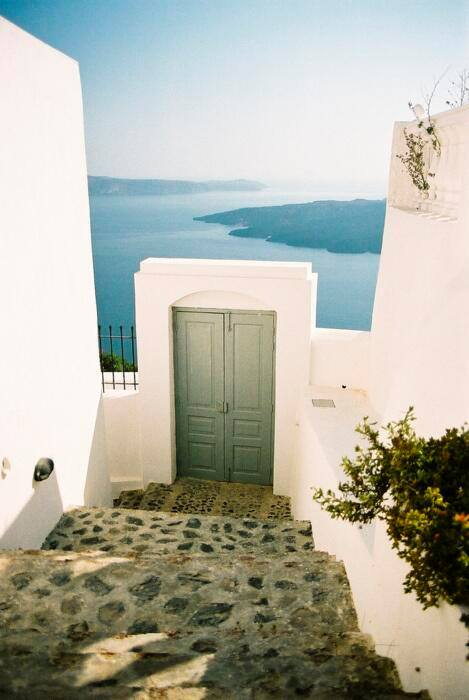 Doorway to the Sea, Santorini, Greece