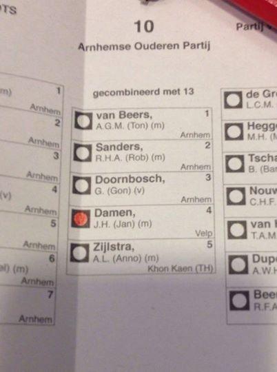 Zo, Arnhemse Ouderen Partij zit in de raad !