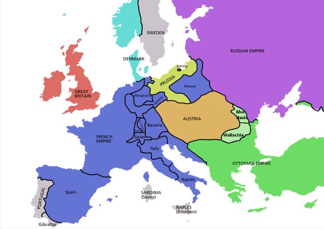 Europa in 1812 onder Napolein