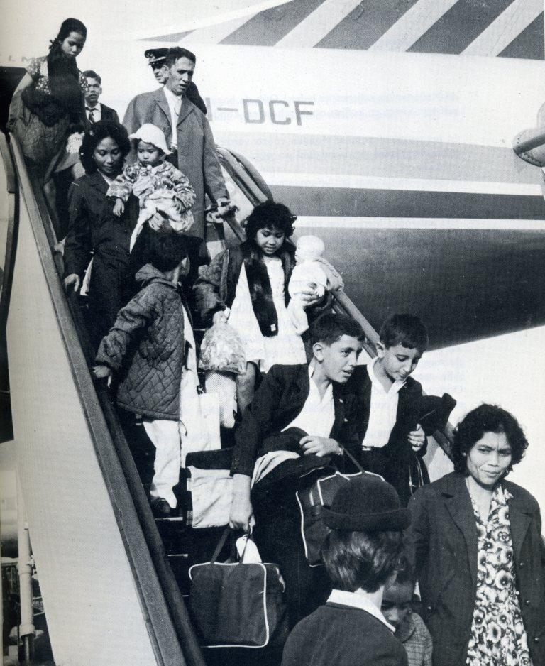 Aankomst repatrianten op Schiphol